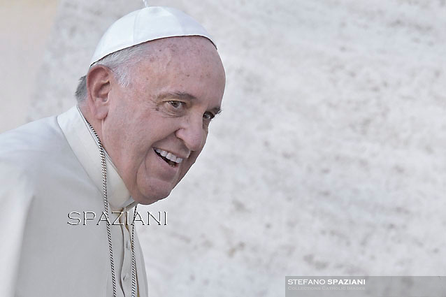 Pope Francis during his weekly general audience in St. Peter square at the Vatican, Wednesday.November 19, 2014