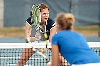 SAN ANTONIO, TX - FEBRUARY 1, 2014: The McNeese State University Cowgirls versus the University of Texas at San Antonio Roadrunners Women's Tennis at the UTSA Tennis Center. (Photo by Jeff Huehn)
