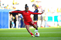 Gothenburg, Sweden - Thursday June 08, 2017: Mallory Pugh prior to an international friendly match between the women's national teams of Sweden (SWE) and the United States (USA) at Gamla Ullevi Stadium.