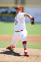 April 15, 2009:  Pitcher Thomas Eager (37) of the Palm Beach Cardinals, Florida State League Class-A affiliate of the St. Louis Cardinals, delivers a pitch during a game at Roger Dean Stadium in Jupiter, FL.  Photo by:  Mike Janes/Four Seam Images