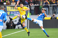 Andrea Beghetto of Frosinone and Kevin Malcuit of Napoli compete for the ball during the Serie A 2018/2019 football match between Frosinone and SSC Napoli at stadio Benito Stirpe, Frosinone, April 28, 2019 <br /> Photo Andrea Staccioli / Insidefoto