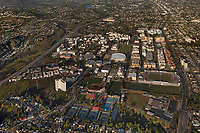 aerial photograph of the main campus of San Diego State University, SDSU, California