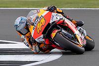 28th August 2021; Silverstone Circuit, Silverstone, Northamptonshire, England; MotoGP British Grand Prix, Qualifying Day; Repsol Honda Team rider Pol Espargaro on his Honda RC213V