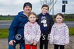 Enjoying a walk on Bracker O'Regan road on Saturday, l to r: Ian, Madeline, Mackenzie and Carly O'Shea