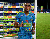 MONTERIA - COLOMBIA, 11-11-2020: Fabian Mosquera de jaguares es el jugador del partido entre Jaguares F. C. y Atletico Junior de la fecha 19 por la Liga BetPlay DIMAYOR 2020, en el estadio Jaraguay de Monteria de la ciudad de Monteria. / Fabian Mosquera is the player of the match between Jaguares F. C. and Atletico Junior, of the 19th date for the Betplay DIMAYOR League 2020 at Jaraguay de Monteria Stadium in Monteria city. Photo: VizzorImage / Andres Lopez  / Cont.
