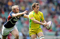 Con Foley of Australia during the iRB Marriott London Sevens at Twickenham on Saturday 11th May 2013 (Photo by Rob Munro)