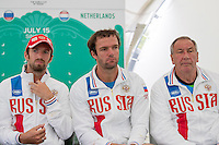 Moscow, Russia, 14 th July, 2016, Tennis,  Davis Cup Russia-Netherlands, Start of the draw Russian team<br /> Photo: Henk Koster/tennisimages.com