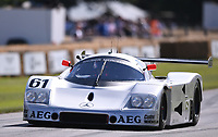 9th July 2021;  Goodwood  House, Chichester, England; Goodwood Festival of Speed; Day Two; Kenny Acheson drives the 1989 Sauber-Mercedes C9 in the Goodwood Hill Climb