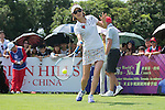 Cindy Lee plays tennis at the10th hole during the World Celebrity Pro-Am 2016 Mission Hills China Golf Tournament on 22 October 2016, in Haikou, China. Photo by Marcio Machado / Power Sport Images