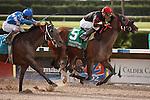 Musical Romance(5) wins the G1 Princess Rooney Handicap at Calder Race Course, Miami Gardens Florida. 07-07-2012.  Arron Haggart/Eclipse Sportswire