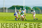 Lixnaws Darragh Conway and Gary Lynch of Tralee Parnells tussle for possession in the U16 Hurling plate final.