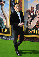 """LOS ANGELES, USA. January 11, 2020: Rami Malek at the premiere of """"Dolittle"""" at the Regency Village Theatre.<br /> Picture: Paul Smith/Featureflash"""