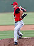 Grand Prairie AirHogs Pitcher Tim Brown (26) in action during the American Association of Independant Professional Baseball game between the Grand Prairie AirHogs and the Fort Worth Cats at the historic LaGrave Baseball Field in Fort Worth, Tx. Fort Worth defeats Grand Prairie 8 to 7...