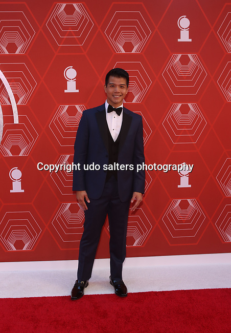 Telly Leung attends the 74th Tony Awards-Broadway's Back! arrivals at the Winter Garden Theatre in New York, NY, on September 26, 2021. (Photo by Udo Salters/Sipa USA)