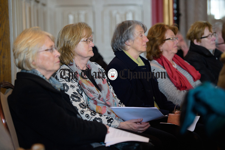 Some of the audience at a Clare Youth Theatre performance of excerpts from Virginia Woolf at the Temple Gate Hotel as part of the Ennis Bookclub Festival. Photograph by John Kelly.