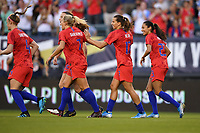 PHILADELPHIA, PA - AUGUST 29: The USWNT celebrate the USWNT goal during the USWNT 2019 Victory Tour match versus Portugal at Lincoln Financial Field on August 29, 2019 in Philadelphia, PA.