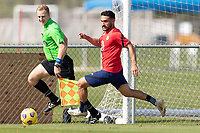 BRADENTON, FL - JANUARY 23: Cristian Roldan moves with the ball during a training session at IMG Academy on January 23, 2021 in Bradenton, Florida.