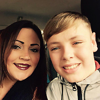 """Pictured: James O'Mara (R) with his mum Becci (L), image taken from relative's open social media account<br /> Re: A young rugby player died just a week after being diagnosed with leukaemia. <br /> James O'Mara, 13, was a happy and healthy schoolboy but suddenly complained of feeling unwell.<br /> His family thought he had a sickness bug but tests showed James had acute myloid leukaemia.<br /> He battled the illness for just a week before dying at Birmingham Children's Hospital surrounded by his heartbroken family.<br /> His aunt Amanda Tanner, 41, said: """"He was always laughing, joking and smiling - he didn't see the point in homework.<br /> """"He loved being outside doing anything that could be adventurous."""