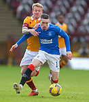 17.01.2021 Motherwell v Rangers: Robbie Crawford and Ryan Kent