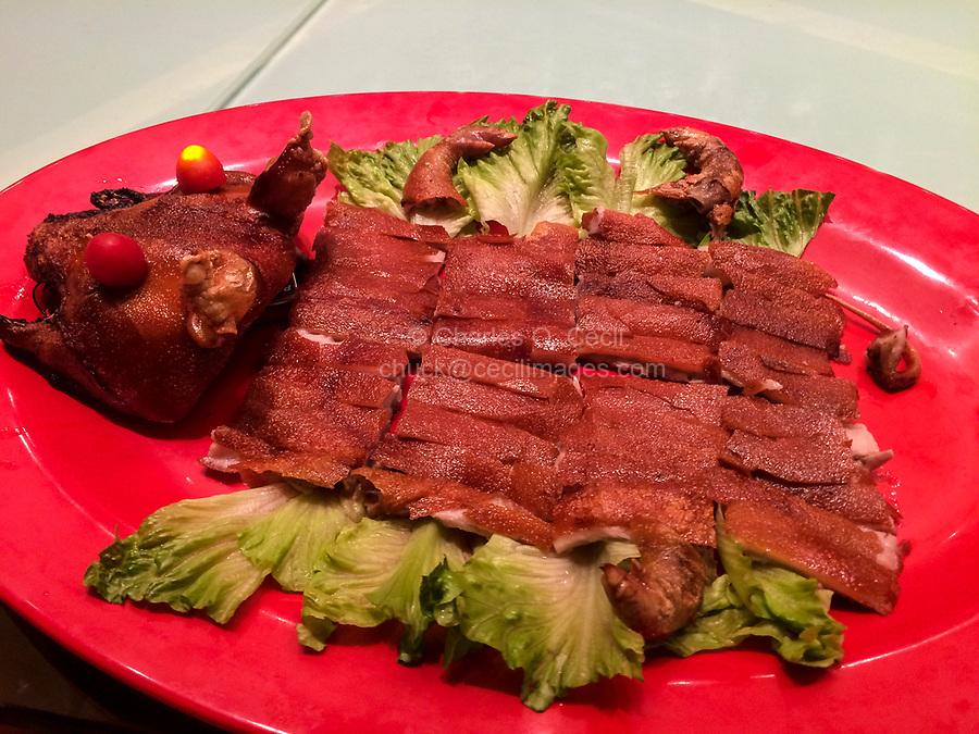 Roast Piglet for Dinner, Guiyang, Guizhou, China.