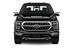 Car photography straight front view of a 2021 Ford F-150 Platinum 4 Door Pick-up Front View