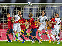 17th November 2020;  Estadio La Cartuja de Sevilla, Seville, Spain; UEFA Nations League Football, Spain versus Germany;   Leon Goretzka (Ger) Sergio Ram(esp) and Toni Kroos GER