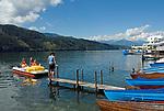 Oesterreich, Kaernten, Millstaetter See, Millstatt: Bootsverleih | Austria, Carinthia, Lake Millstatt, Millstatt: boat rental