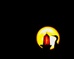 A cormorant prepares to roost on a channel marker as the full moon rises.<br /> ©2013 Mark Wallheiser