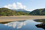 River Dwyryd Estuary. Gwynedd North Wales UK. Snowdonia National Park Mount