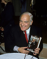 Montreal (Qc) CANADA -  november 1986 - File Photo -  Keith Davey  at his biography launch.  Keith Davey, the former senator and legendary Liberal organizer, died peacefully on Monday Jan 17, 2011, surrounded by his family in Toronto. He was 84.