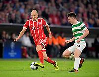 18.10.2017, Football UEFA Champions League 2017/2018,  , 3. match day, FC Bayern Muenchen - Celtic Glasgow, in Allianz-Arena Muenchen, v.li: Arjen Robben (FC Bayern Muenchen)  -  Kieran Tierney  (Celtic Glasgow)  *** Local Caption *** © pixathlon<br /> <br /> +++ NED + SUI out !!! +++<br /> Contact: +49-40-22 63 02 60 , info@pixathlon.de