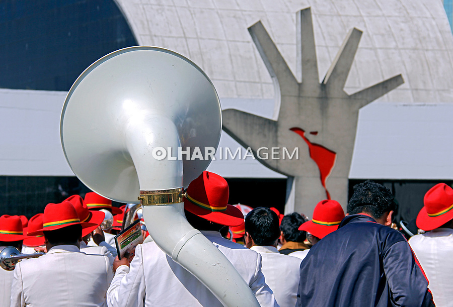 Festa comemorativa da Independencia Boliviana, Memorial da América Latina. Sao Paulo.2015. Foto de Lineu Kohatsu.
