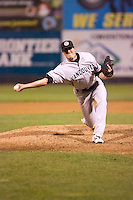 September 1, 2009:  Vancouver Canadians' Bo Schultz delivers a pitch during a game against the Everett AquaSox at Everett Memorial Stadium in Everett, Washington.