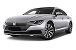 Stock pictures of low aggressive front three quarter view of 2018 Volkswagen Arteon Elegance 5 Door Hatchback Low Aggressive
