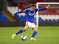 16th March 2021; Cardiff City Stadium, Cardiff, Glamorgan, Wales; English Football League Championship Football, Cardiff City versus Stoke City; Tom Sang of Cardiff City crosses the ball