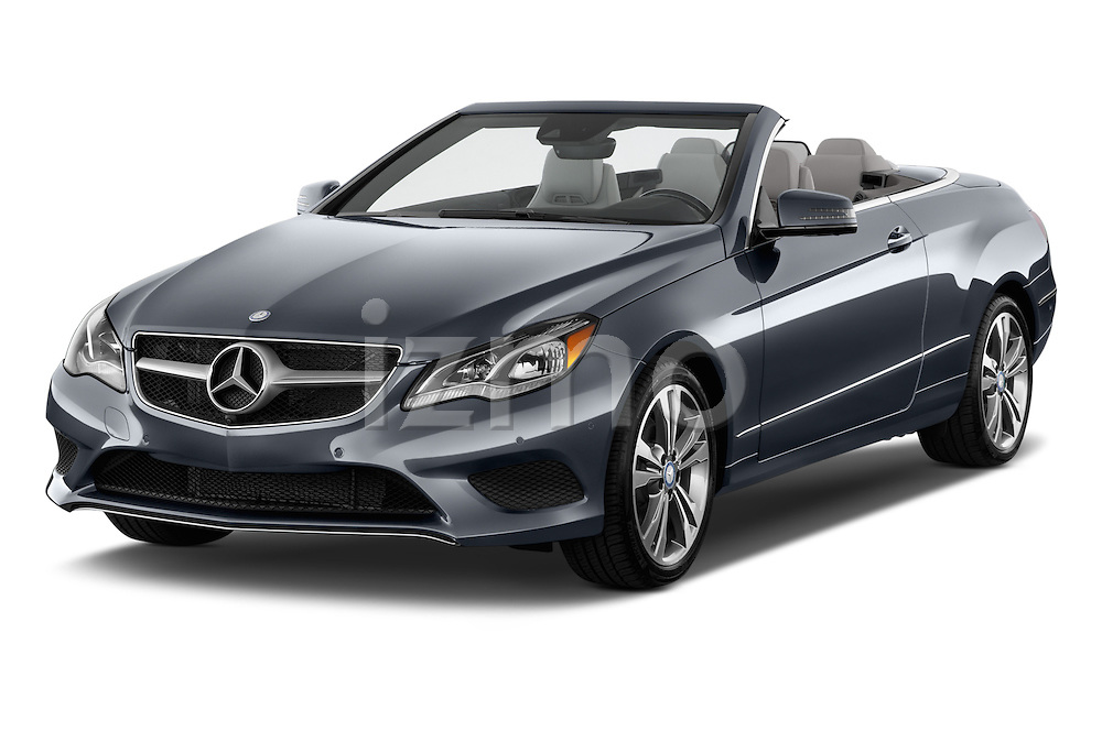 Front three quarter view of a 2014 Mercedes E Class 350 Convertible