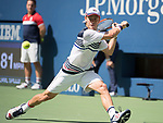 September 5,2017:   Diego Schwartzman (ARG) loses to Pablo Carreno Busta (ESP) 6-4, at the US Open being played at Billy Jean King Ntional Tennis Center in Flushing, Queens, New York.  ©Leslie Billman/EQ