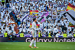 Real Madrid's fans wave flags to show their support to the team during the La Liga 2017-18 match between Real Madrid and RC Deportivo La Coruna at Santiago Bernabeu Stadium on January 21 2018 in Madrid, Spain. Photo by Diego Gonzalez / Power Sport Images