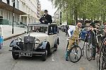 The Tweed Run London UK. Press car.