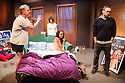 London, UK. 15.05.2013. KPS Productions and Hp Productions, in association with Pleasance and Theatre503, with the support of the Jersey Arts Trust, present PLAYING WITH GROWN-UPS, by Hannah Paterson, at Theatre503. Directed by Hannah Eidinow, lighting design by Nicholas Holdridge, set design by Simon Scullion and costume design by Natalie Price. Picture shows:  Shane Attwooll (Jake), Trudi Jackson (Joanna), Daisy Hughes (Stella) and Ben Caplan (Robert). Photograph © Jane Hobson.