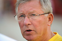 Manchester United manager Sir Alex Ferguson. Manchester United (EPL) defeated the Philadelphia Union (MLS) 1-0 during an international friendly at Lincoln Financial Field in Philadelphia, PA, on July 21, 2010.