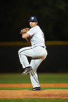 Georgetown Hoyas relief pitcher Jordan Chudacoff (6) delivers a pitch during a game against the Chicago State Cougars on March 3, 2017 at North Charlotte Regional Park in Port Charlotte, Florida.  Georgetown defeated Chicago State 11-0.  (Mike Janes/Four Seam Images)