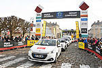 The publicity caravan ahead of the race starts from Compiegne before the 116th edition of Paris-Roubaix 2018. 8th April 2018.<br /> Picture: ASO/Bruno Bade | Cyclefile<br /> <br /> <br /> All photos usage must carry mandatory copyright credit (© Cyclefile | ASO/Bruno Bade)