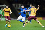 Motherwell v St Johnstone…..30.11.19   Fir Park   SPFL<br />Drey Wright is tripped by Jake Carroll<br />Picture by Graeme Hart.<br />Copyright Perthshire Picture Agency<br />Tel: 01738 623350  Mobile: 07990 594431