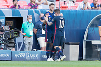 DENVER, CO - JUNE 3: Matt Miazga #3 Christian Pulisic #10 of the United States during a game between Honduras and USMNT at EMPOWER FIELD AT MILE HIGH on June 3, 2021 in Denver, Colorado.