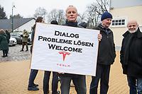 2020/01/25 Brandenburg | Grünheide | Kundgebung für Tesla-Gigafactory