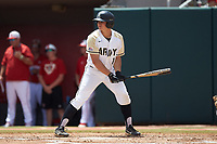 Anthony Giachin (1) of the Army Black Knights at bat against the North Carolina State Wolfpack at Doak Field at Dail Park on June 3, 2018 in Raleigh, North Carolina. The Wolfpack defeated the Black Knights 11-1. (Brian Westerholt/Four Seam Images)