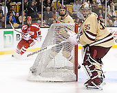 (Gilroy, MacLeod) Parker Milner (BC - 35) - The Boston College Eagles defeated the Boston University Terriers 3-2 (OT) to win the 2012 Beanpot championship on Monday, February 13, 2012, at TD Garden in Boston, Massachusetts.