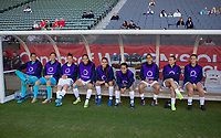 CARSON, CA - FEBRUARY 07: The Costa Rican women's national team bench during a game between Canada and Costa Rica at Dignity Health Sports Park on February 07, 2020 in Carson, California.