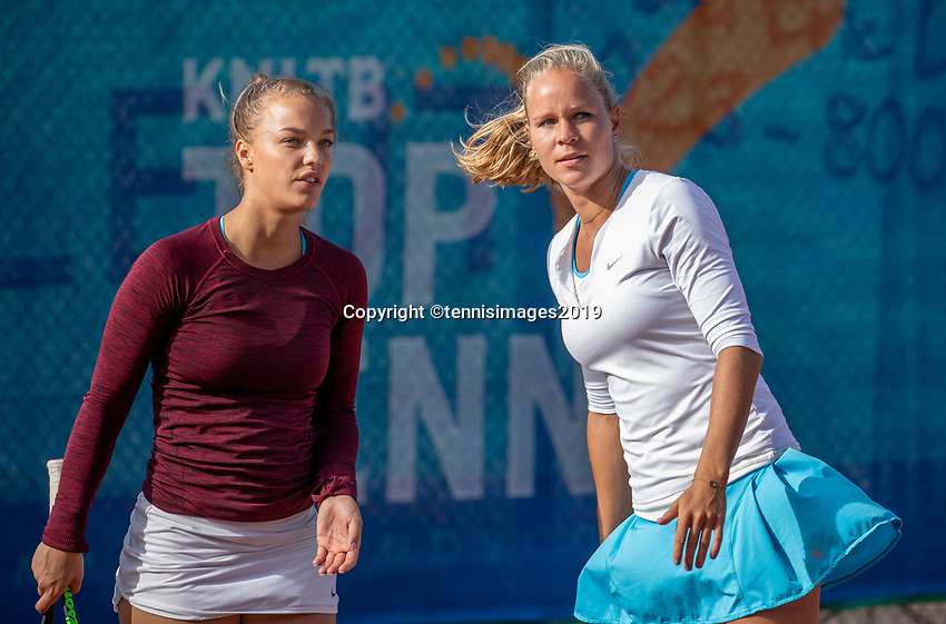 Zandvoort, Netherlands, 8 June, 2019, Tennis, Play-Offs Competition, Womans doubles: Sem Wensveen (NED) (L) and Dominique Karregat (NED)<br /> Photo: <br /> Henk Koster/tennisimages.com